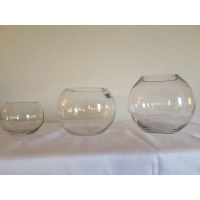 Vase rond transparent 6 po