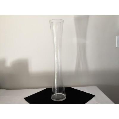 Vase silhouette en verre transparent 24 po